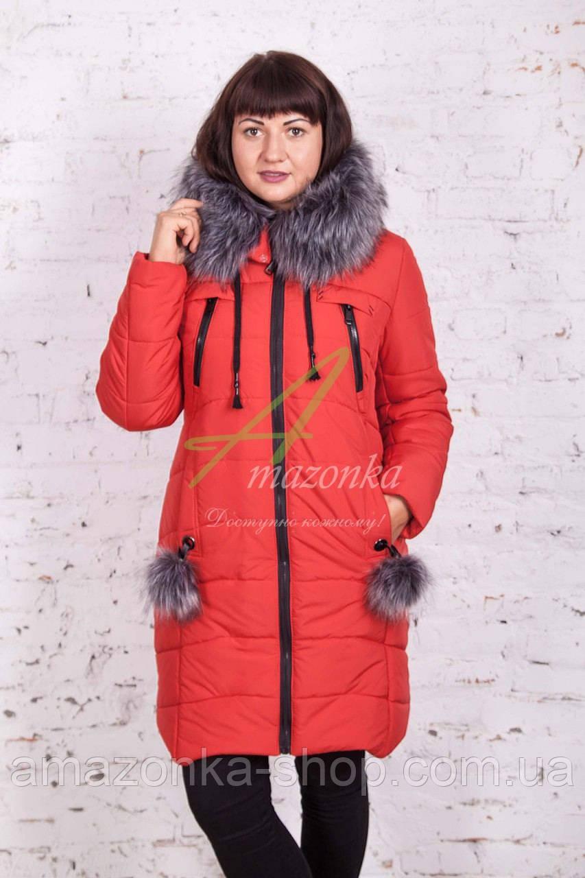 Стильное зимнее женское пальто сезона зима 2017-2018 - (модель кт-176)