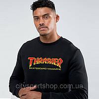 Свитшот с принтом Thrasher Flame New Logo . Ориг Бирки | Толстовка с пикой