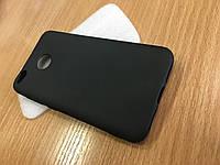 Черный матовый силиконовый чехол для Xiaomi Redmi 4x
