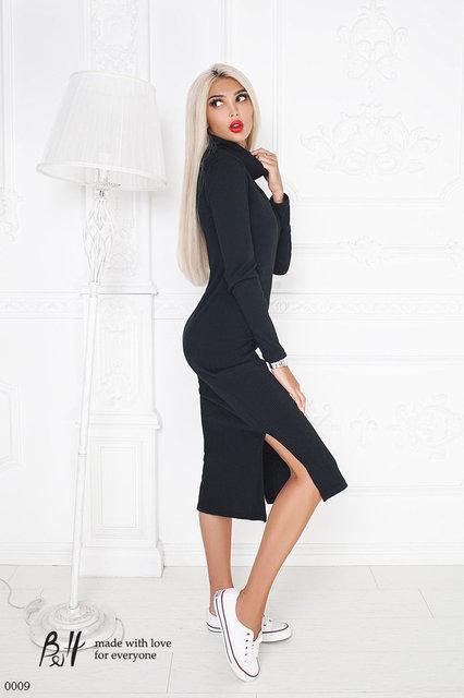 11bd189371e Платье трикотажное с разрезом сбоку 42-44