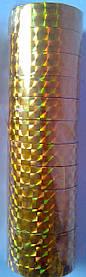 """Скотч голографічний """"Gold"""" (12 мм.*20м) уп./12 шт."""