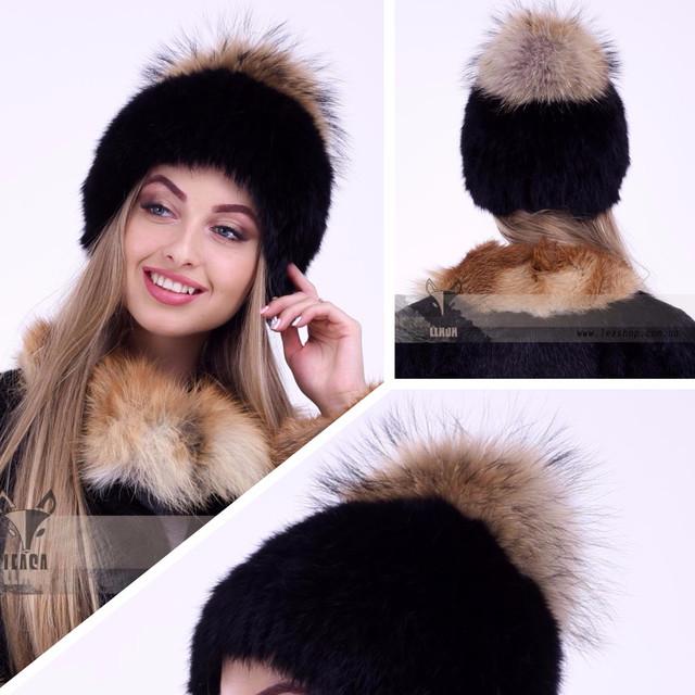 Женская меховая шапка с бубоном ФОТО