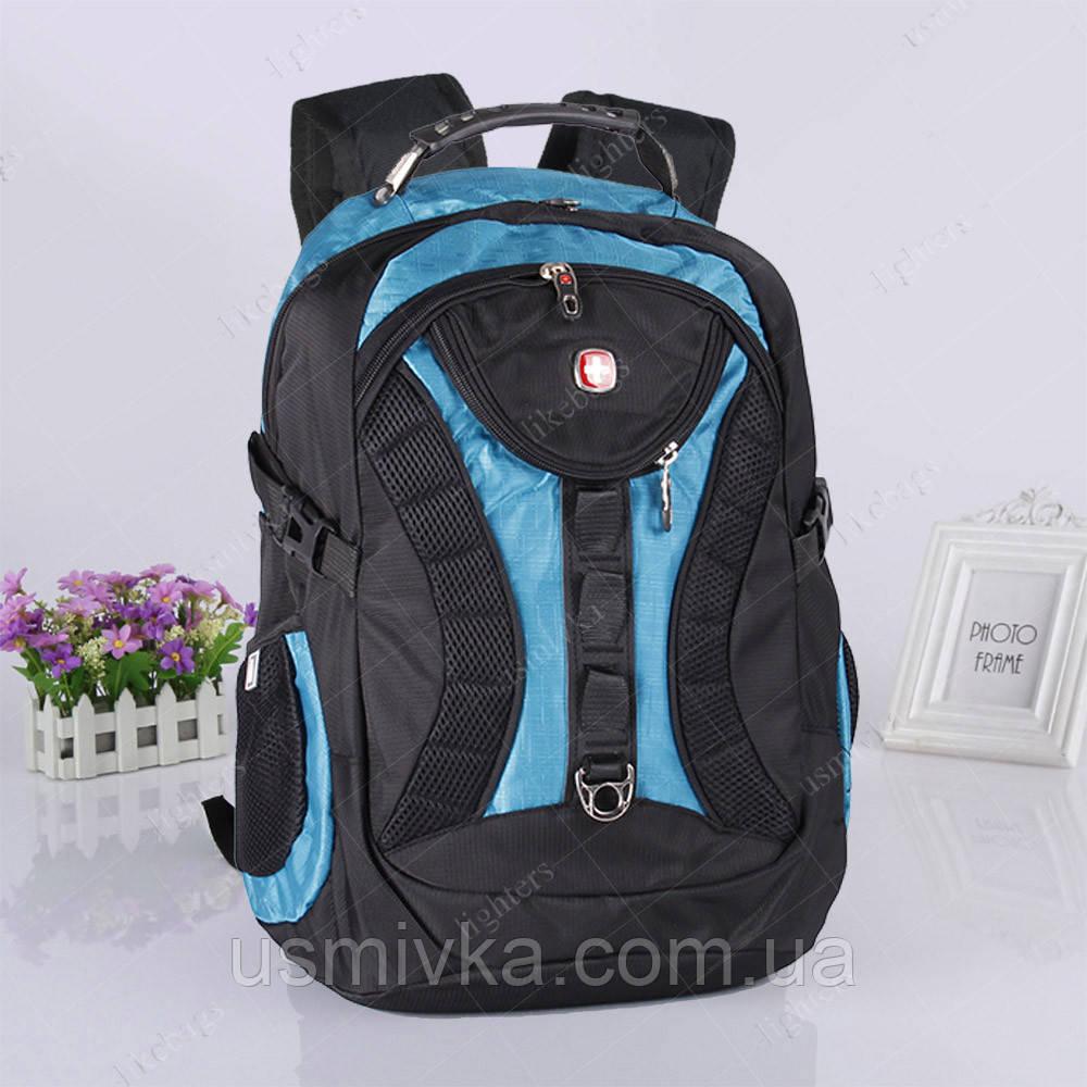a61ea3a1f796 Купить Удобный рюкзак Swissgear 7226, черно-синий в интернет ...