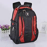 Надежный швейцарский рюкзак Swissgear 7620, черно-красный