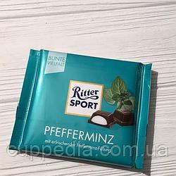 Ritter Sport Pfefferminz черный шоколад с мятой