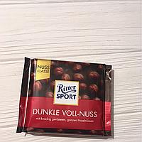 Ritter Sport черный шоколад Dunkle voll-nuss