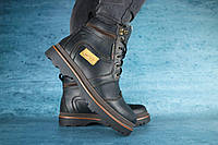 Чоловічі зимові черевики Riccone (чорні), ТОП-репліка, фото 1
