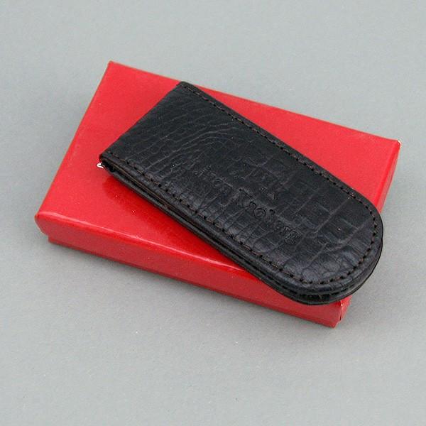 Зажим для купюр кожаный кофе магнитный Lison Kaoberg 35015