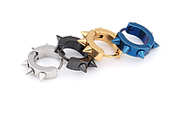 Серьги кольца  с шипами 316L 9х4