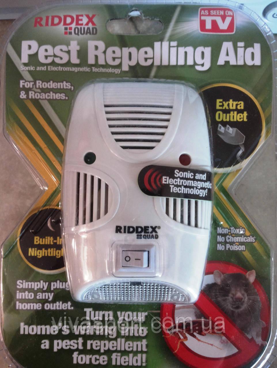 Отпугиватель грызунов, тараканов и насекомых Riddex Quad (Риддекс Квад)
