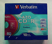 Диски CD-R Verbatim AZO Colour 700MB 52x