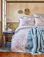 Постельное белье Karaca Home ранфорс Luminda розовое евро размер