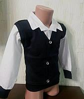 Рубашка-обманка  для мальчика рост 110-116