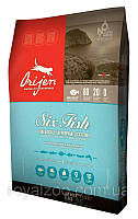 Orijen Six Fish Cat & Kitten корм для котят и кошек всех пород с рыбой, 6.8 кг