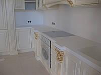 Кухонная столешница из белого акрила Hanex S-008