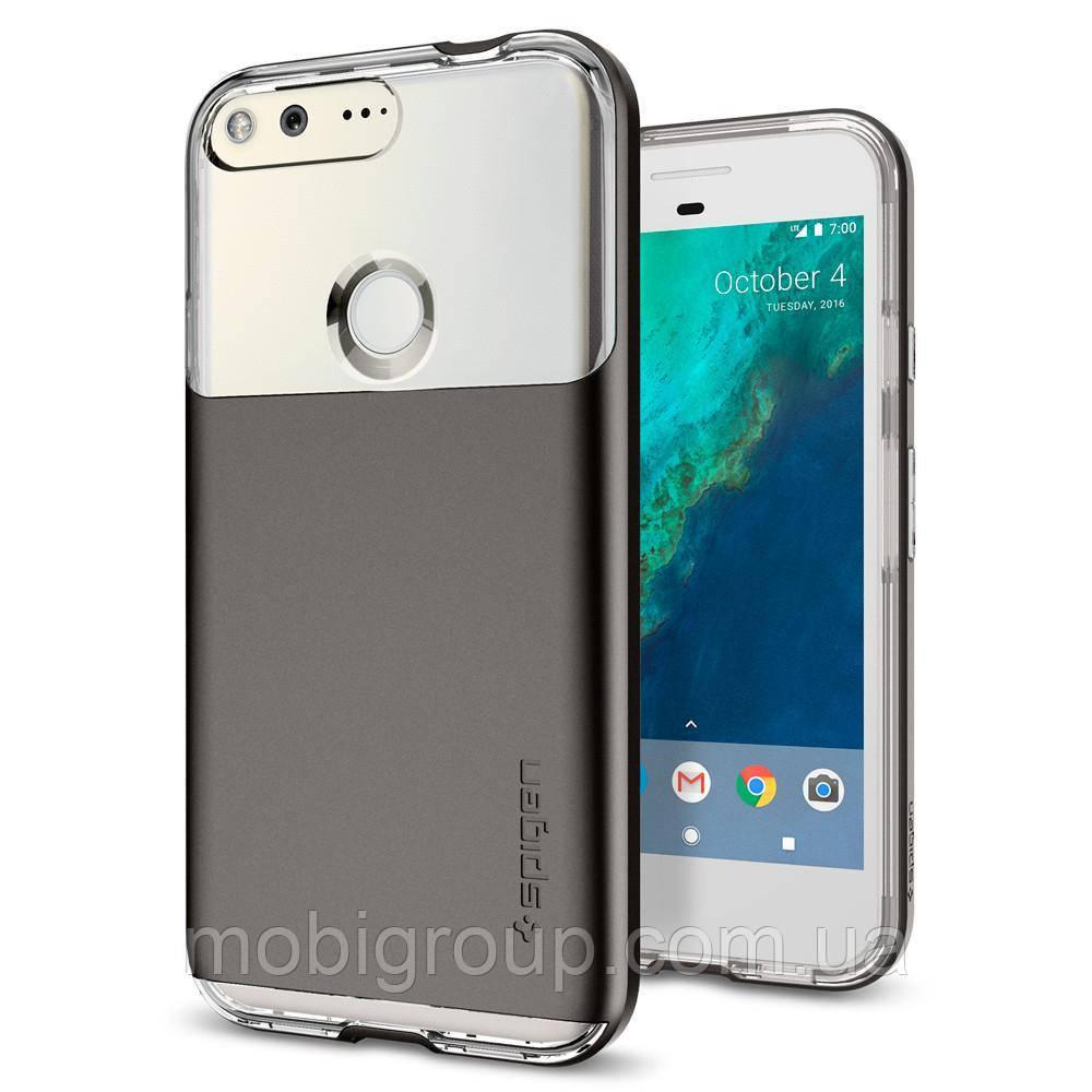 Чехол Spigen для Google Pixel XL Neo Hybrid Crystal, Gunmetal