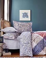 Постельное белье Karaca Home ранфорс Latigo бордовое евро размер