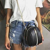 Женская черная маленькая сумочка