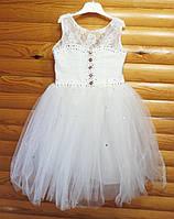 Нарядное пышное платье для девочки на 4-5 лет