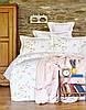 Постельное белье Karaca Home ранфорс Laticia розовое евро размер