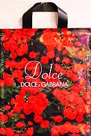 """""""Пакет полиэтиленовый Типа Петля. """"Dolce Gabbana"""" упаковка 25 шт.  Ширина: 29 см. Высота: 34 см."""""""