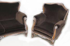 Диван + 2 кресла (пр-во Италия) , фото 2