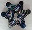 Шапка вязаная детская зимняя с бубоном  м 7073, р 3-10 лет, фото 2