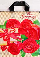 """""""Пакет полиэтиленовый Типа Петля. """"Розы"""" упаковка 25 шт.  Ширина: 29 см. Высота: 34 см."""""""