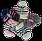 Шапка и шарф вязаный м 7090 разные цвета, фото 3