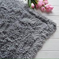 Меховый плед, материал - бамбук, цвет - серый