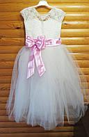 Нарядное пышное платье для девочки на 7-8 лет