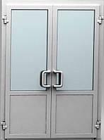 Входные пластиковые двери двустворчатые