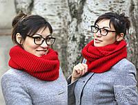 Вязанный шарф хомут