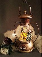 Праздничный Светильник Статуэтка Новогодняя Лампа Имитация Старинной Лампы для Атмосферы Нового Года Рождества