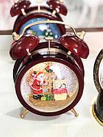 Праздничный Декоративный Будильник Новогодние Часы для Атмосферы Нового Года Рождества