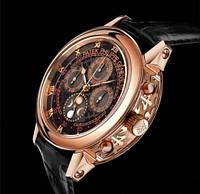 Часы мужские Patek Philippe Sky Moon Tourbillon механические золото-черные