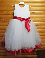 Нарядное пышное платье для девочки на 6-7 лет