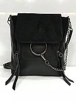 Сумка рюкзак Bars 2664 небольшого размера 22см * 22см * 8см кожзам и замш разные цвета