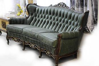 Итальянский кожаный диван, фото 2