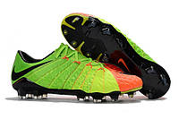 Футбольные бутсы Nike Hypervenom Phantom III FG Electric Green/Black/Hyper Orange, фото 1