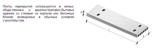 Бетонные перекрытия - плиты ЖБ.