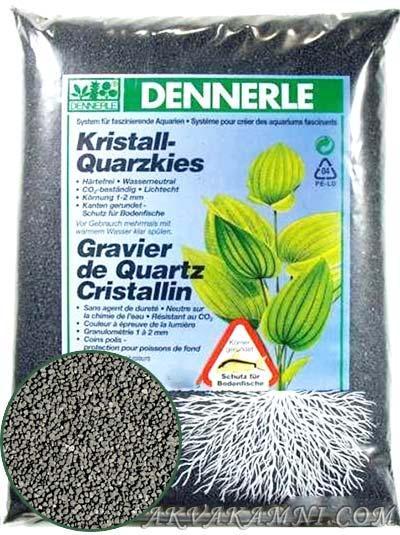 Грунт Kristall-Quarz 1-2 мм, черный, 5 кг. для аквариума