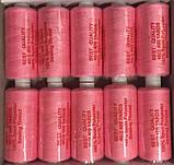Нитка швейная 40/2 400ярд. D 103 розовый., фото 2