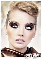Реснички Brown-Black Feather Eyelashes
