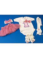 Красивый комплект для новорожденной девочки 0-3 мес