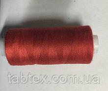 Нитка швейная 40/2 400ярд. D 114 красный.