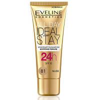 Eveline Cosmetics 30 мл ALL DAY IDEAL STAY увлажняющий тональный крем: 81-NUDE