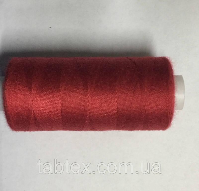 Нитка швейная 40/2 400ярд. D 115 красный.