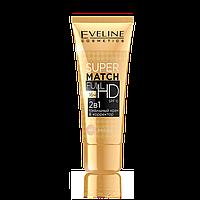 Eveline Cosmetics 30 мл SUPER MATCH FULL HD тональный крем & КОРРЕКТОР 2в1 №61
