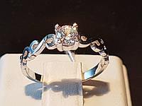 Серебряное кольцо с фианитами. Артикул 10011р, фото 1
